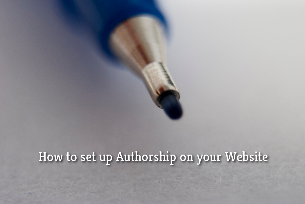 Setting up Authorship on your Website