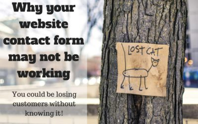 Why your website contact form may not be working