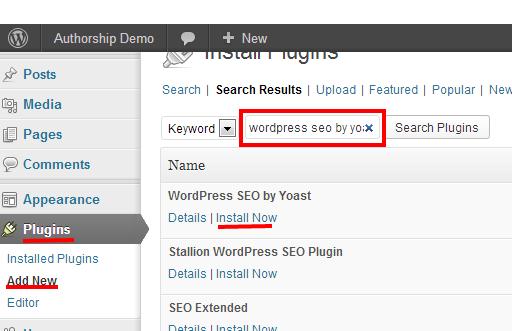 WordPress - Install Yoast SEO